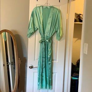 Other - Women's Sea Foam Green Satin Robe